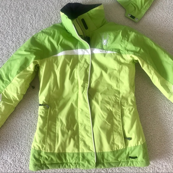 Womens lime green spyder jacket